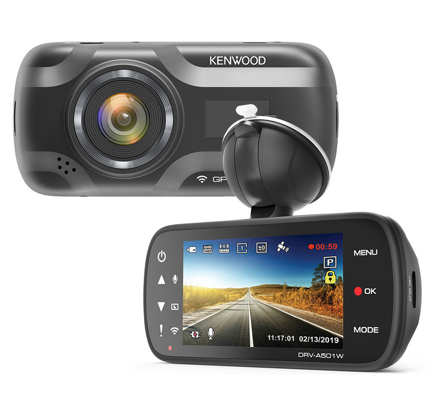 KENWOOD DRV-A501W 16gb Wifi GPS Quad HD dashcam
