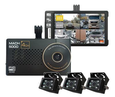 MACH Truck MACH Truck 5000 4CH FullHD 64gb vrachtwagen dashcam