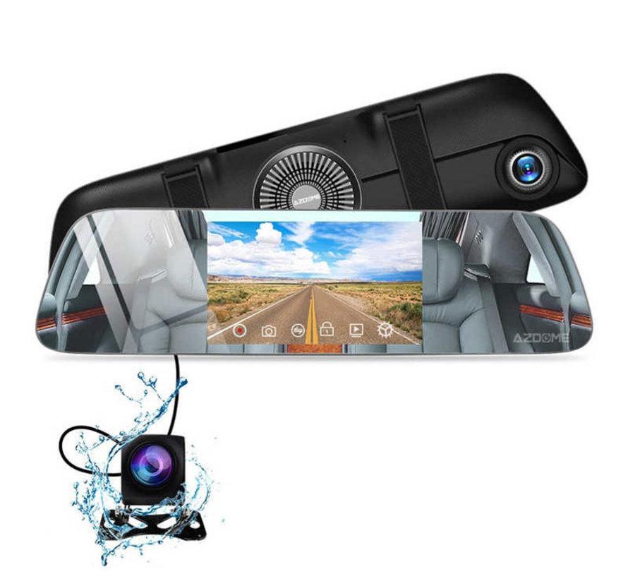 AZDome PG01 2CH Mirror Touch dashcam