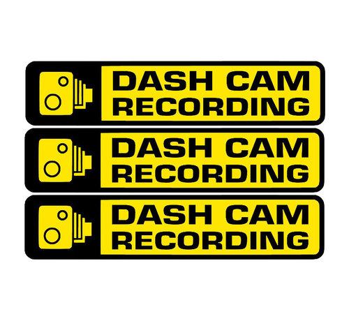 Allcam Dashcam waarschuwing stickers 3x