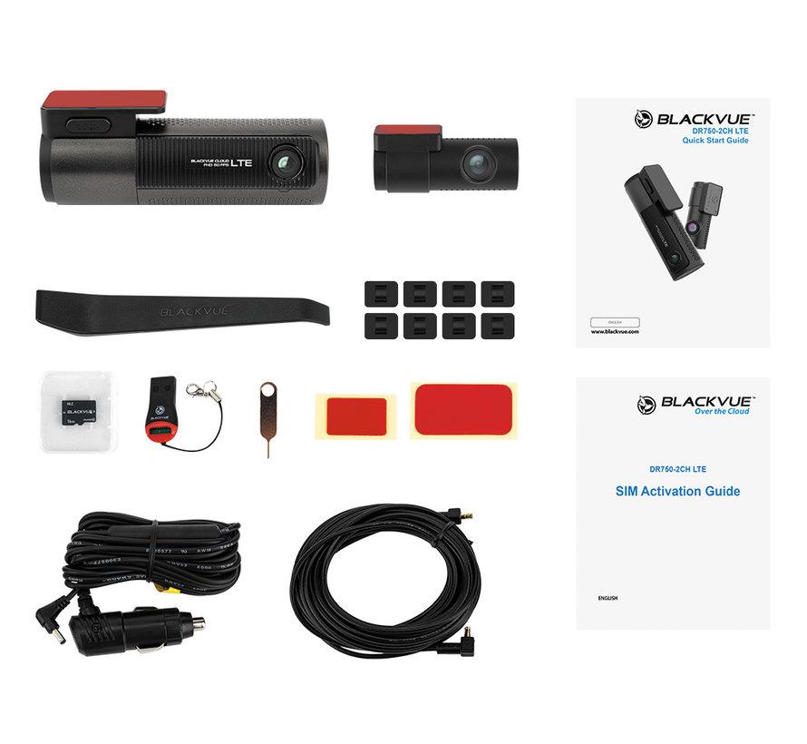 BlackVue DR750-2CH LTE 32gb 4G Cloud Wifi GPS dashcam
