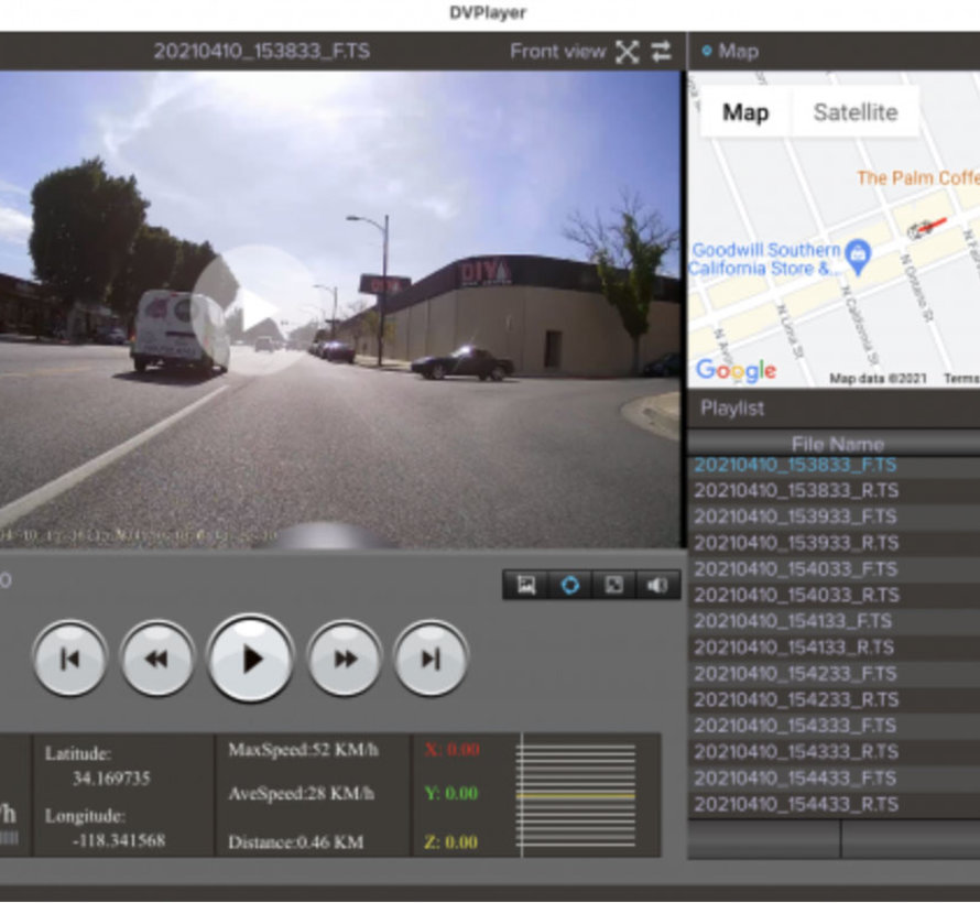 Innovv K3 2CH Dual Wifi GPS motor dashcam