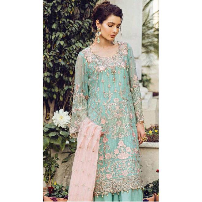 Elegantes Salwar Kameez Suit mit exklusiver und aufwendiger Bestickung.
