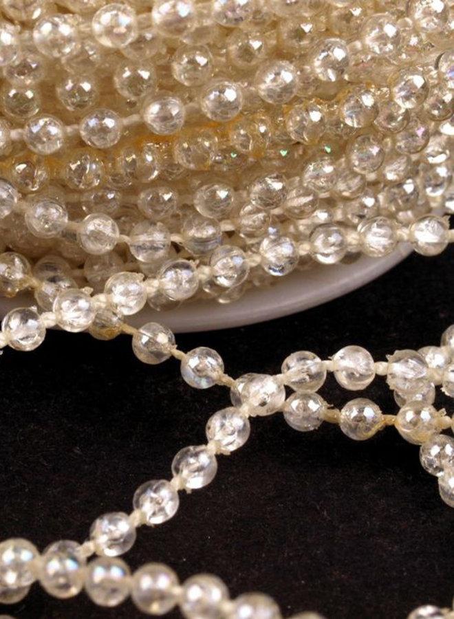 Perlenborte in Weiss/Perlmutt