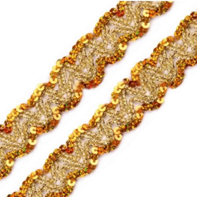 Paillettenborte Gold
