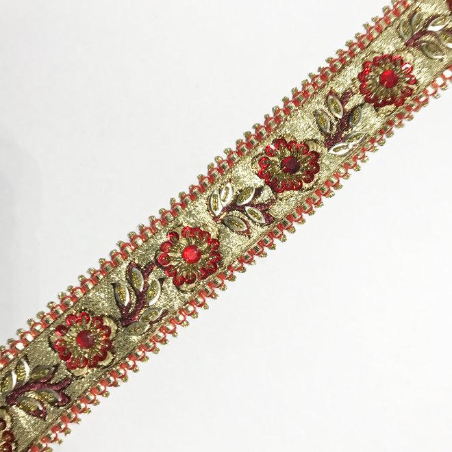 Indische Borte Rot