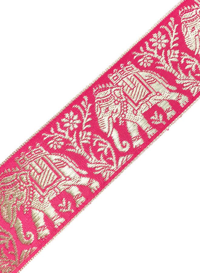 Brokatborte in Pink