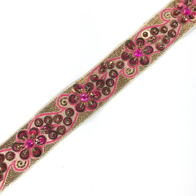 Indische Borte Pink