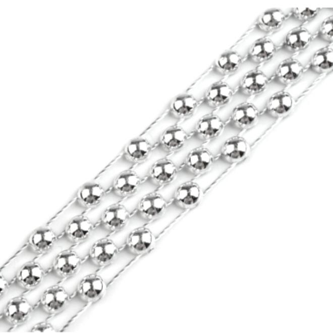 Perlenborte in Silber