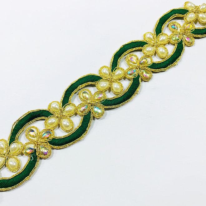 Indische Borte Grün