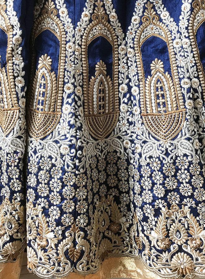 Lehenga Choli in Blau Gold