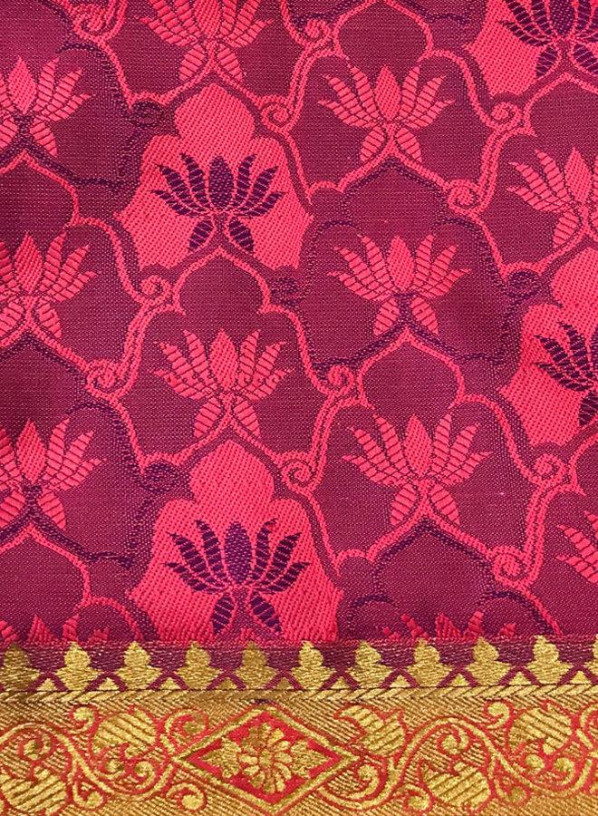 Sari Seide Rot und Violett