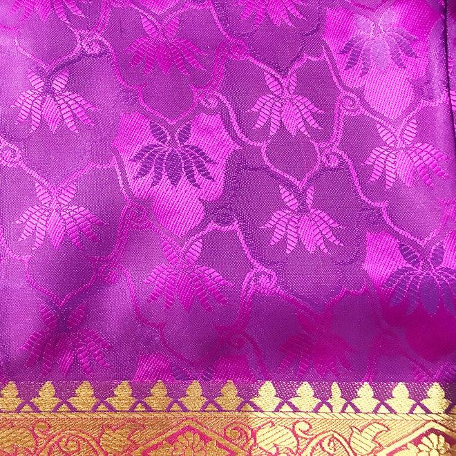 Sari Seide Pink und Violett