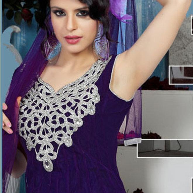Anarkali Suit in Lila