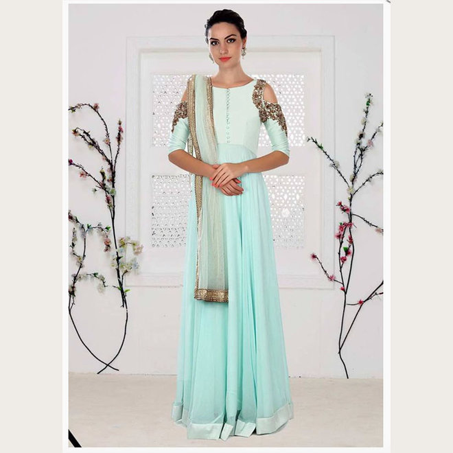 Elegantes Salwar in Mint