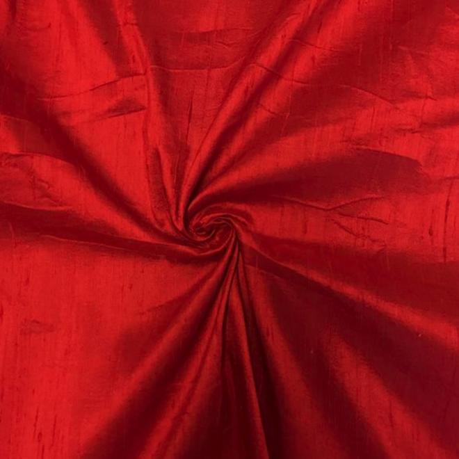 Dupion-Seide Rot