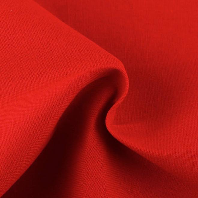 Reines Leinen in Rot