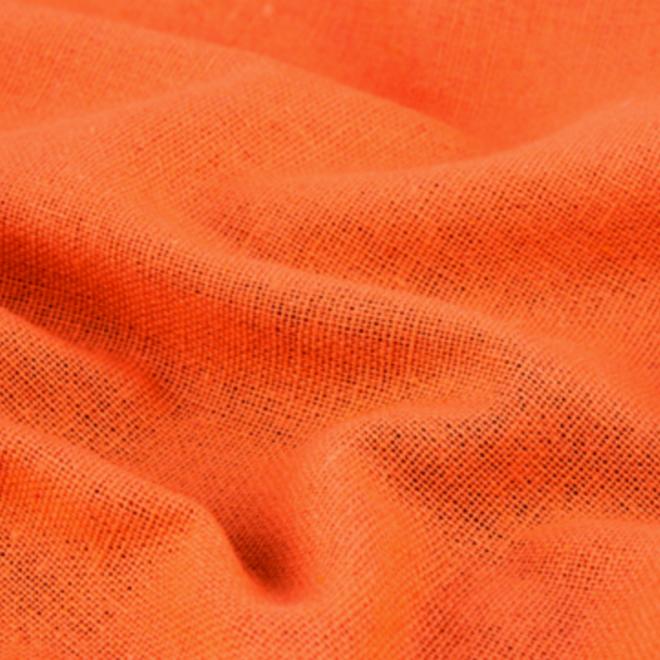 Reines Leinen in Orange