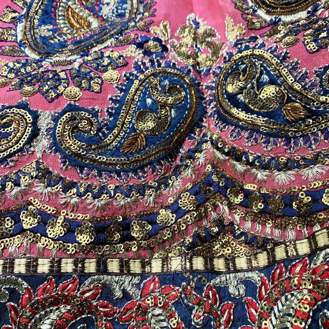 Exklusiver Lehenga Sari in Rot, Blau