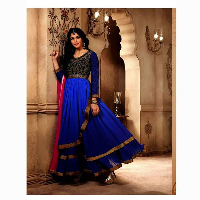 Salwar Kameez  in Blau