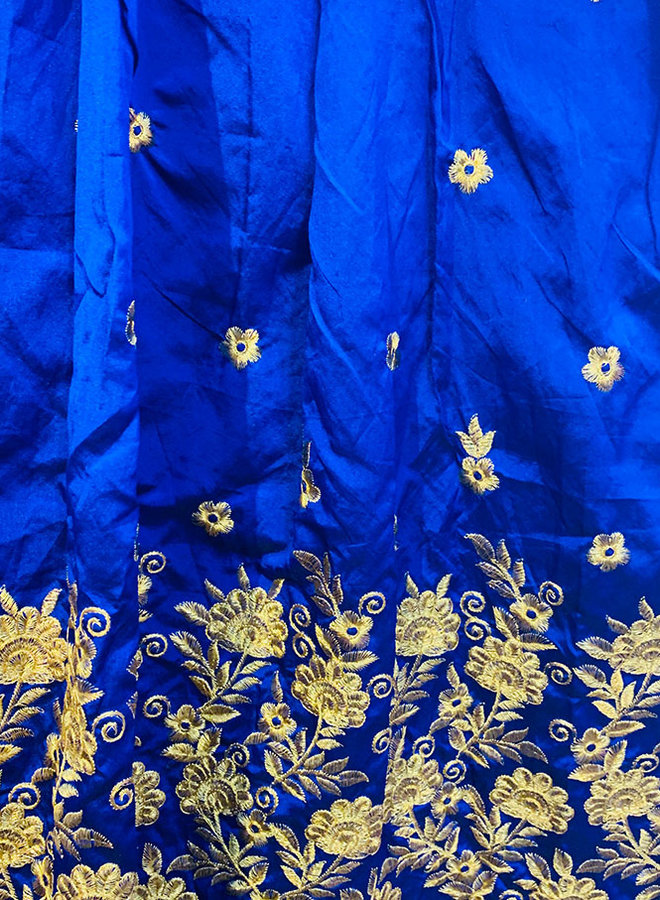 Lehenga Choli in Blau (Massanfertigung)