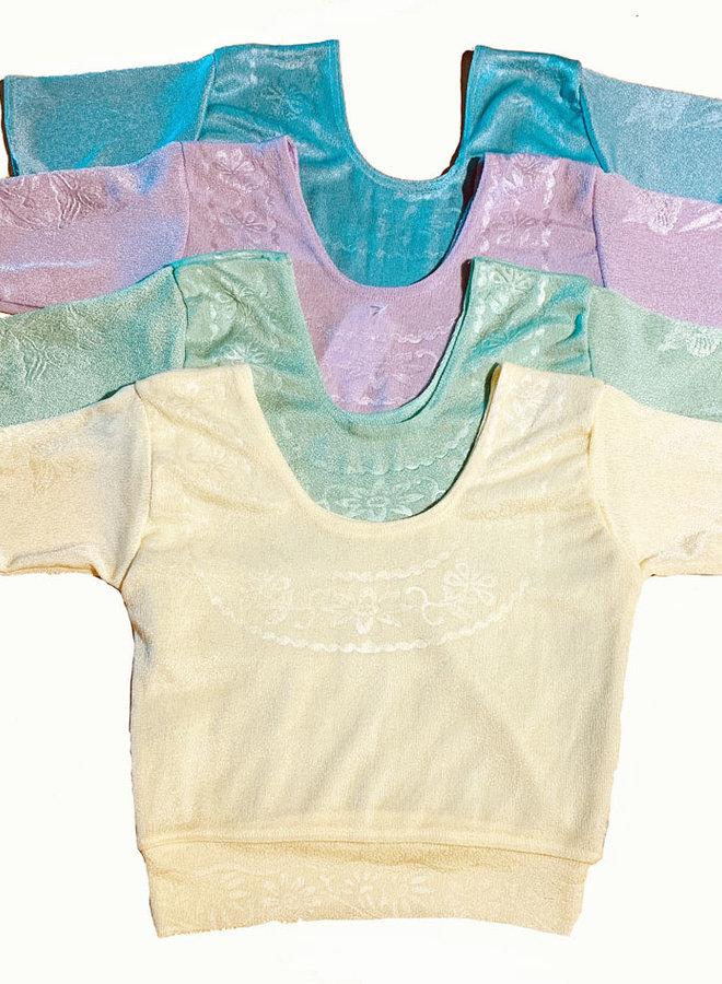 Sari Stretch Bluse in Pastellfarben