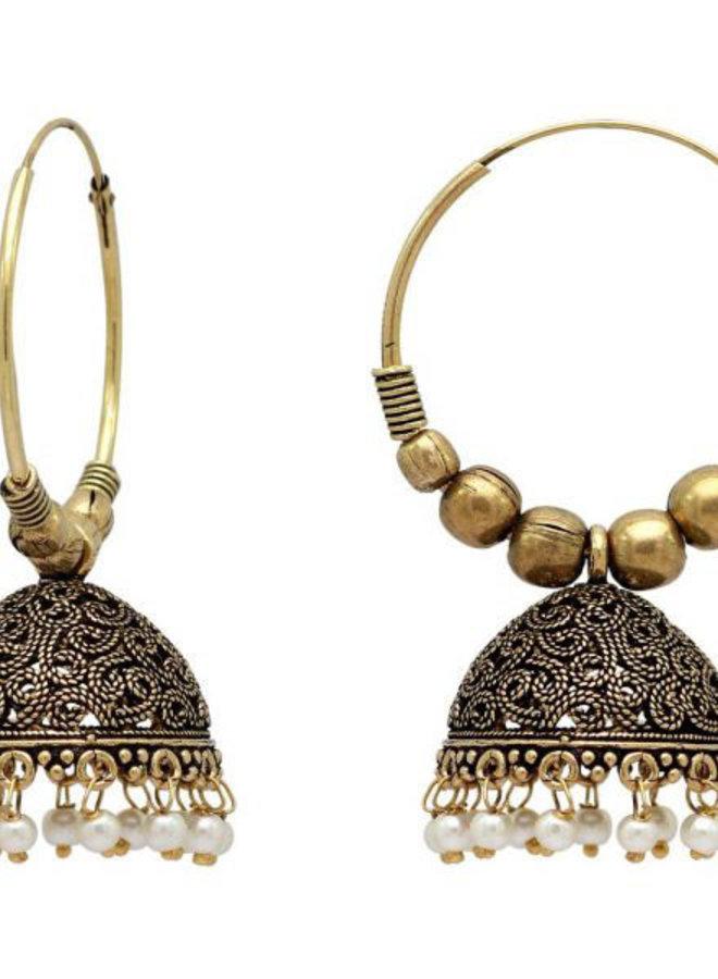Indische Jhumka Ohrringen vergoldet