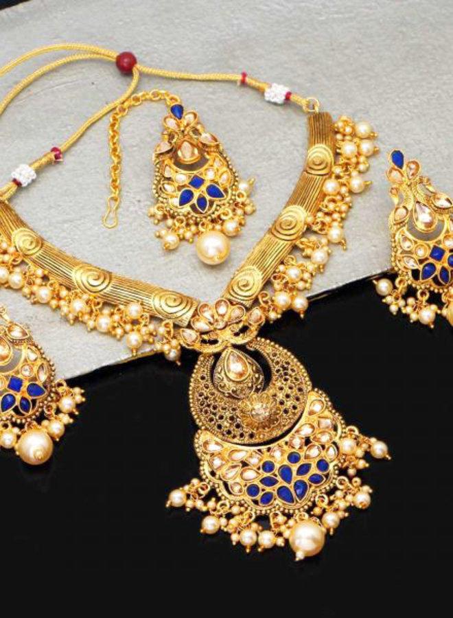Indisches Schmuckset in Gold