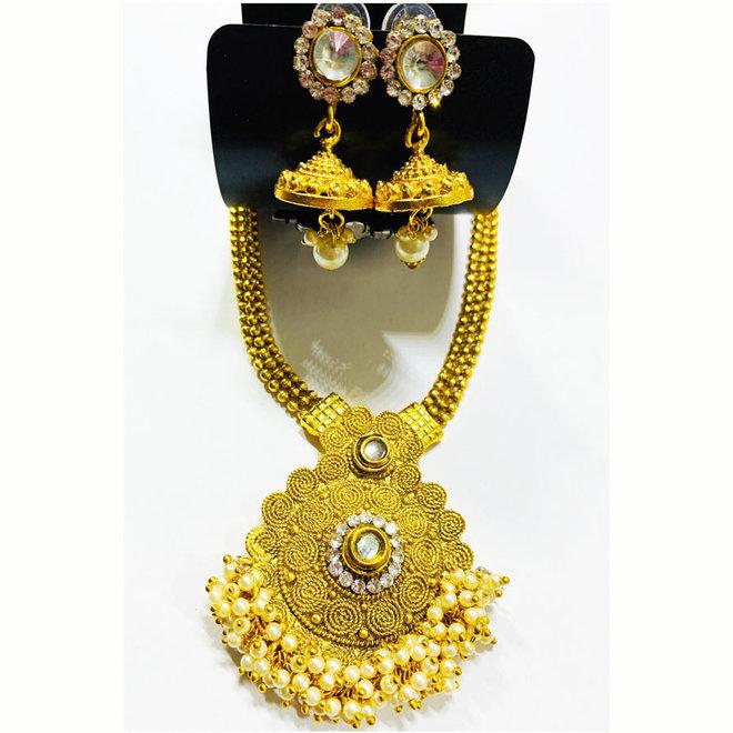 Indisches Kettenset in Gold
