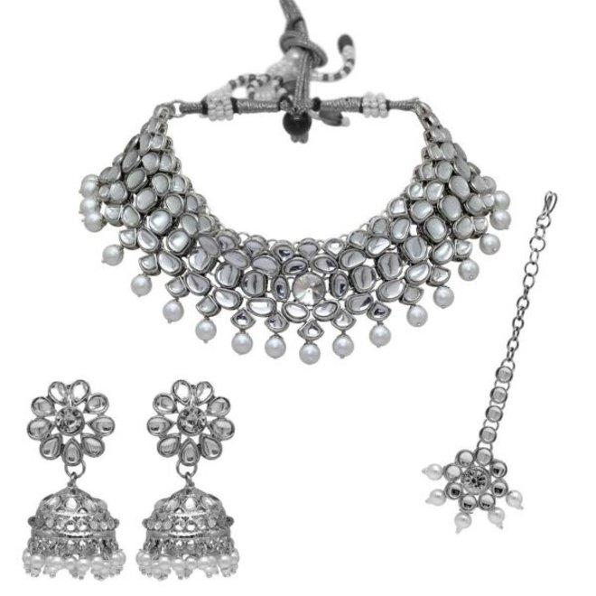 Indisches Schmuckset in Silber