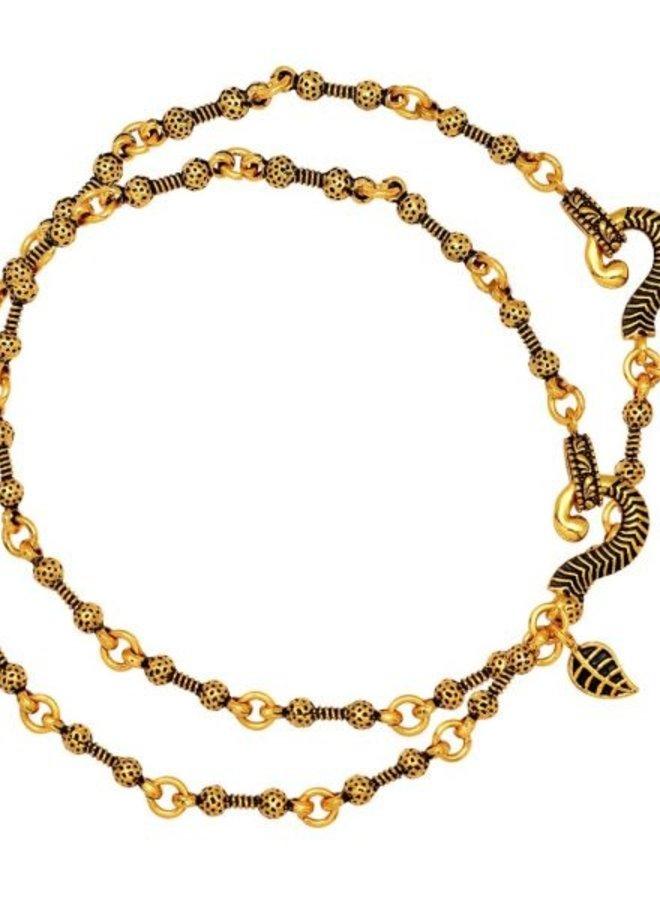 Original indisches Fussketten-Set in Gold
