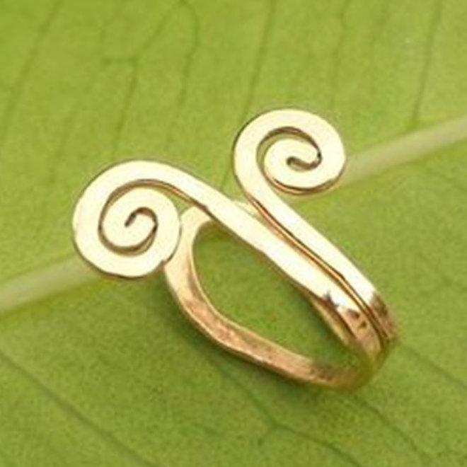 Indischer Ohrclip in Gold oder Silber