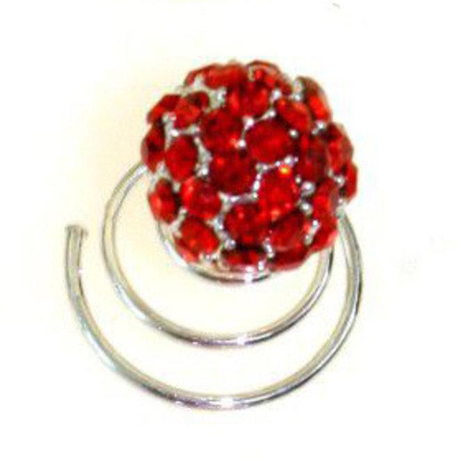 Haarspiralen mit Kristallsteinen