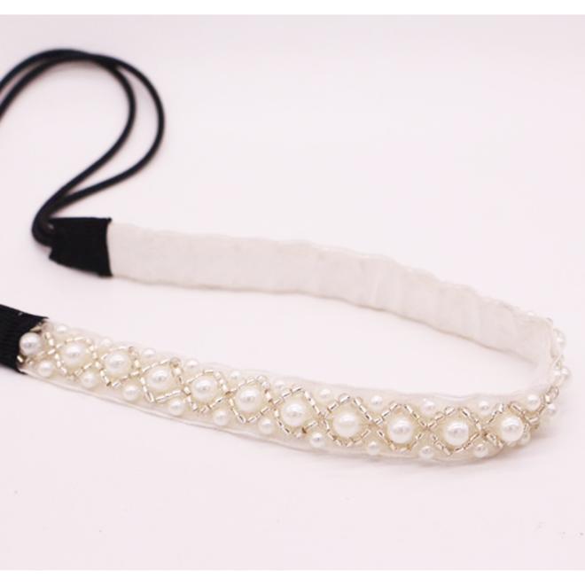 Haarband mit Perlen