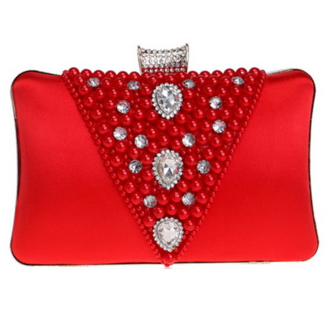 Clutch,  Abendtasche in Rot