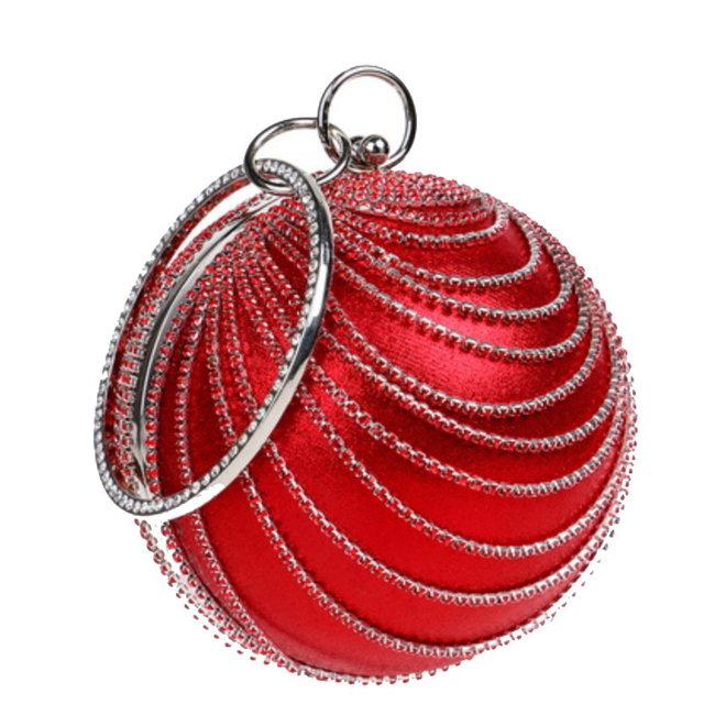Clutch,  Abendtasche in Rot