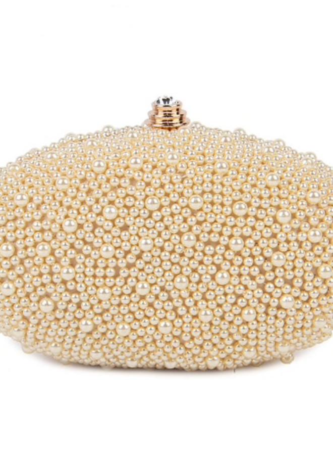 Clutch,  Abendtasche mit Perlen