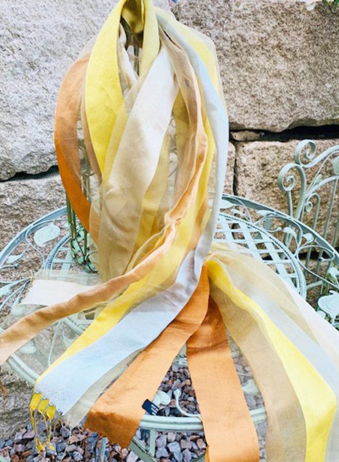 Seidenschal, Foulard in Gelb und Gold