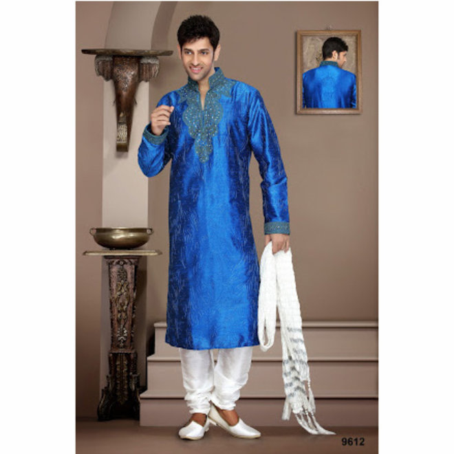 Kurta Pajama in Royalblau