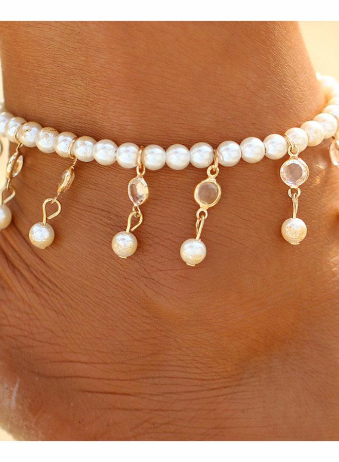 Fusskette mit Perlen