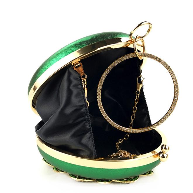 Clutch,  Abendtasche in Grün