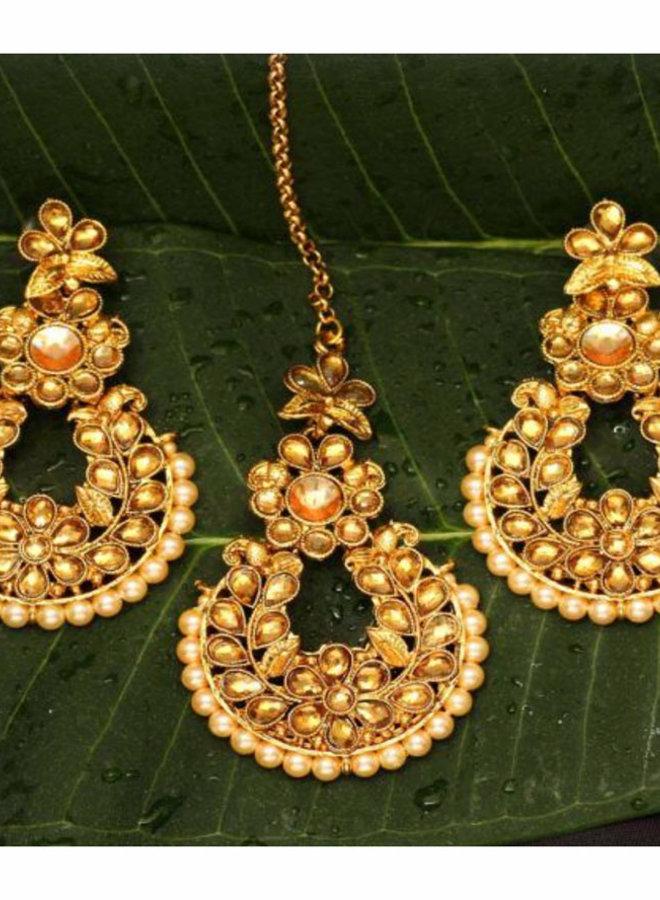 Indische Tikka, Ohrring Set