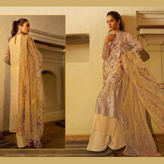 Elegantes Salwar Kameez Suit mit exklusiver und aufwendiger Bestickung.  - Copy