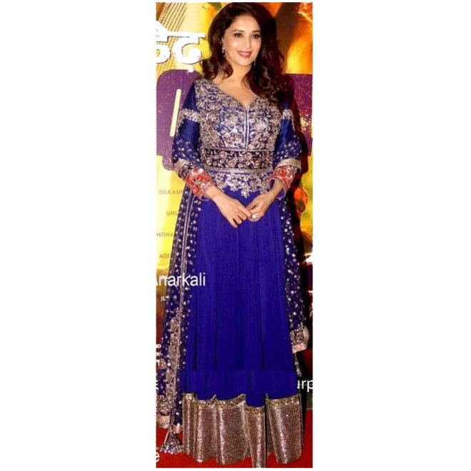 Salwar Kameez  in Blau, Gold