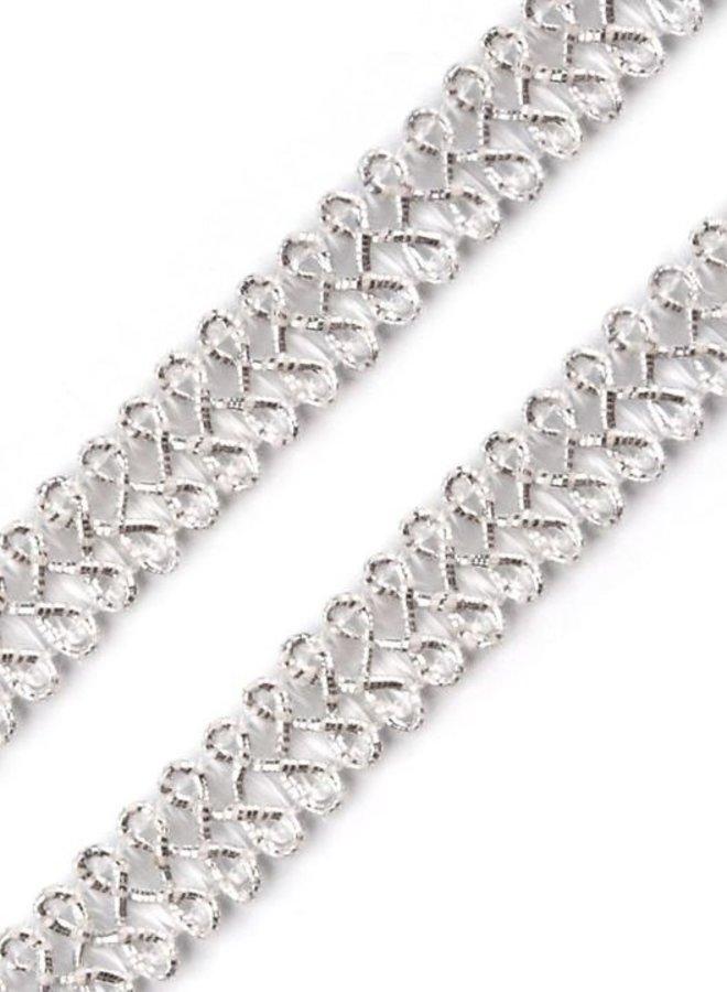 Leonische Borte Silber