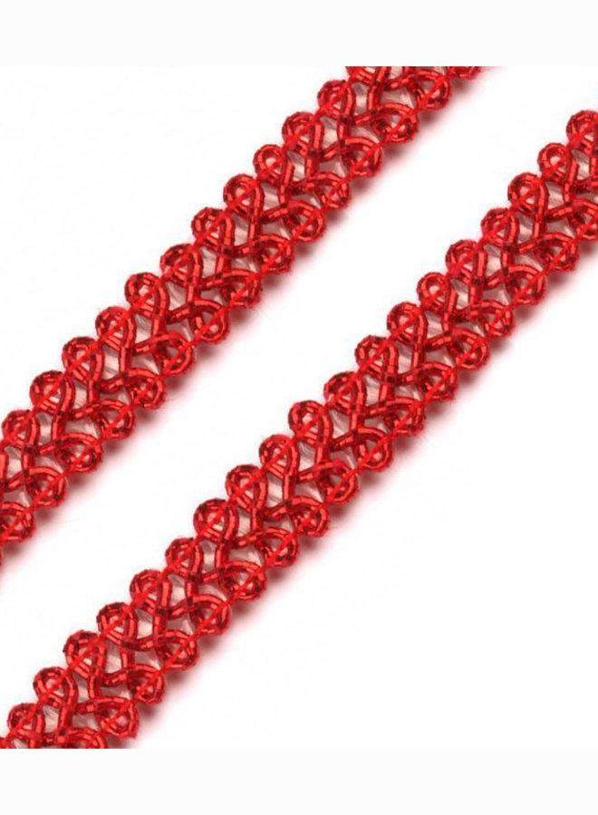 Leonische Borte Rot