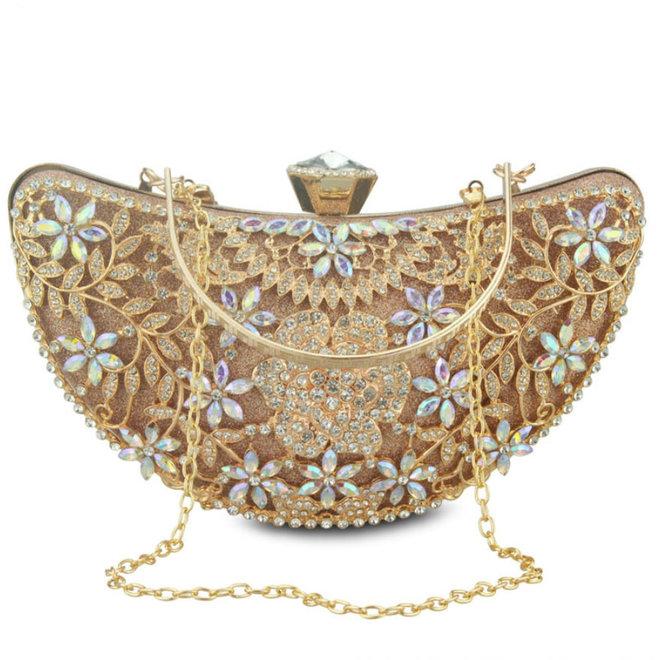 Clutch,  Abendtasche in Gold