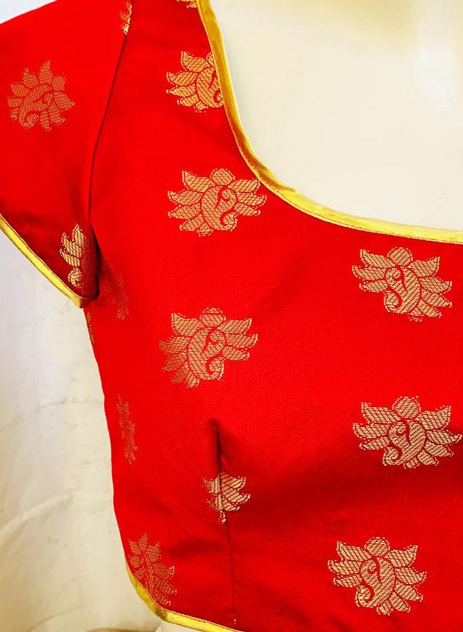 "Saribluse ""handmade"" Seidenbrokat"