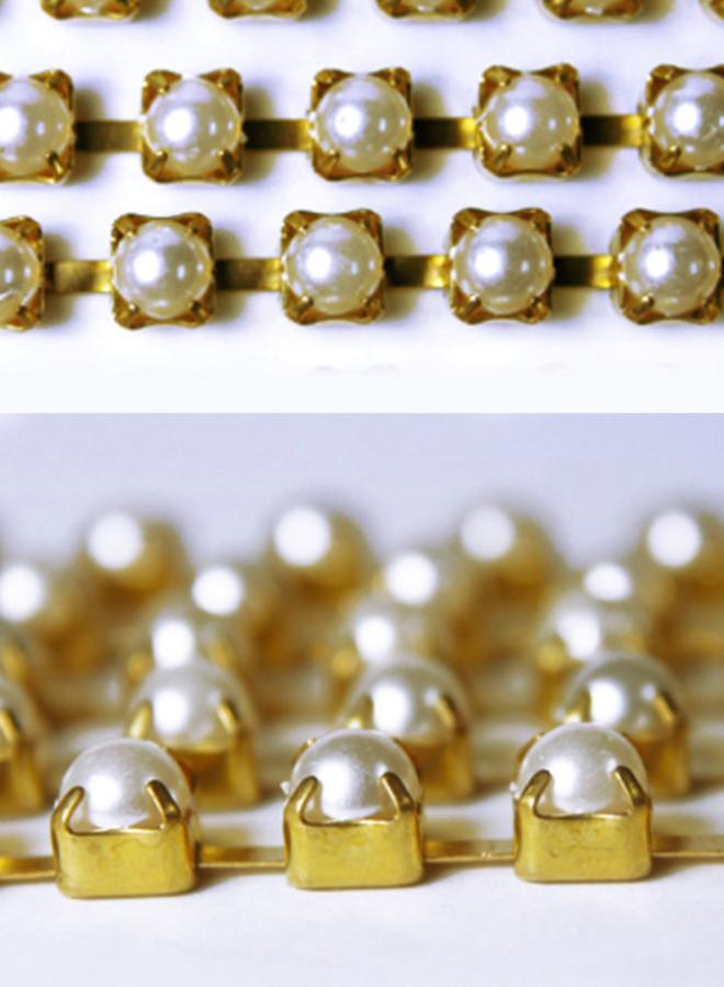 Perlenkette Gold-Perlen (5 mm)