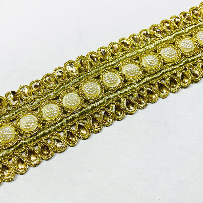 Indische Borte in Gold